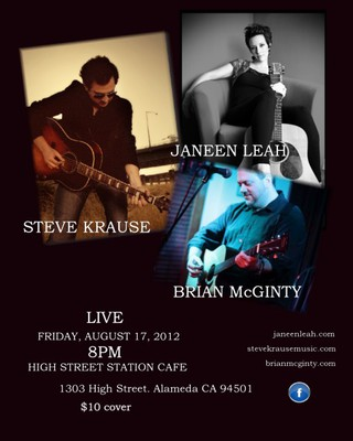Steve Krause, Brian McGinty, and Janeen Leah at High Street Station Cafe